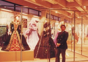 Gustafson in front of the Dame Joan Sutherland Collection