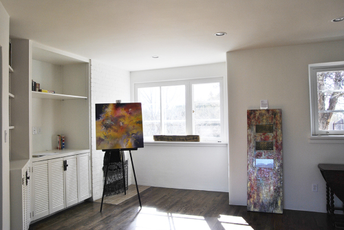 Paintings by Aleta Pippin and Sandra Duran Wilson showing at Pippin Contemporary