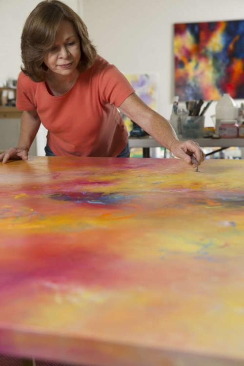 Aleta Pippin in her studio