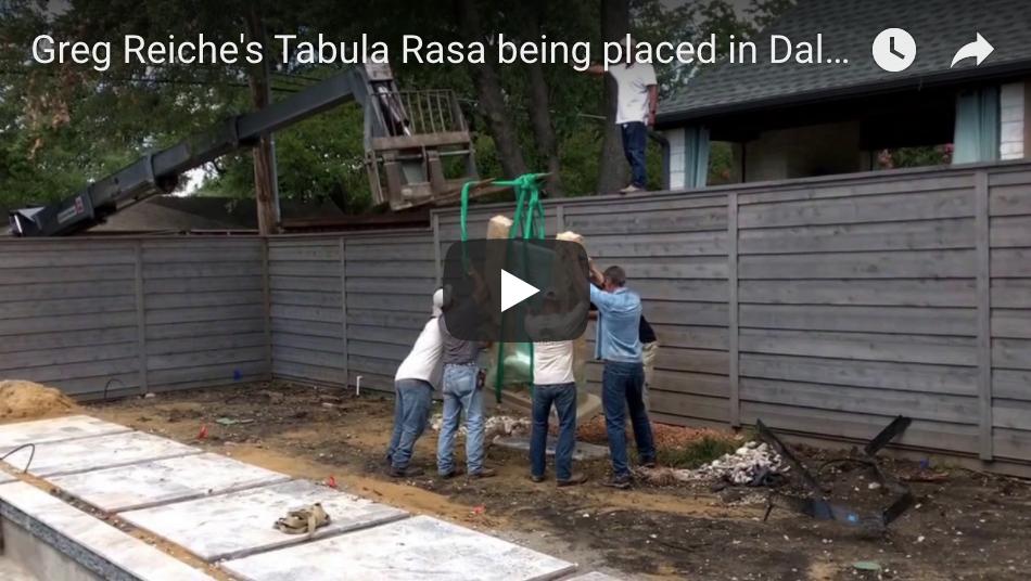 Installation of Tabula Rasa I at collectors' Dallas home